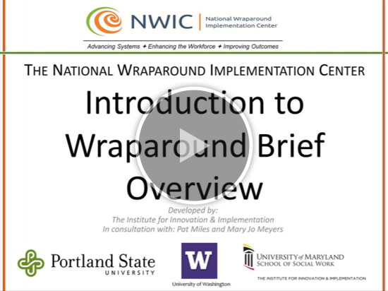 University of Maryland Institute for Innovations and Implementation—Wraparound Trainings