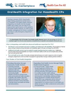 Oral Health Integration for MassHealth CPs