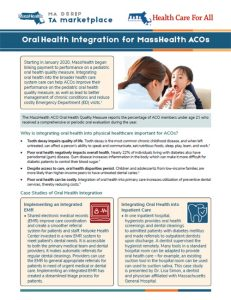 Oral Health Integration for MassHealth ACOs