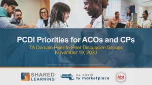 Shared Learning Event - TA Domain Peer-to-Peer Discussion Groups November 19, 2020