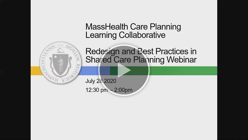 Project Redesign and Best Practices in Shared Care Planning