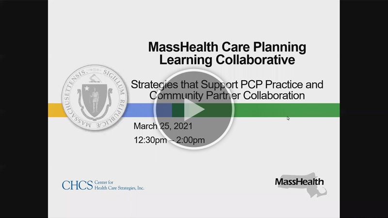 Strategies that Support PCP Practice and Community Provider Collaboration